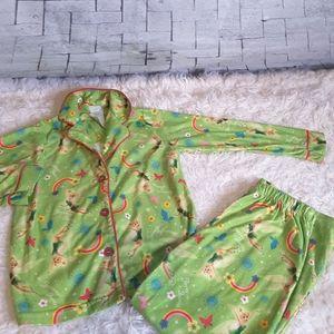 3/$30 Disney Forever Fairies flannel PJ set 6/6X
